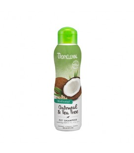 TROPICLEAN SHAMPOO OATMEAL AND TEA TREE 355 ML