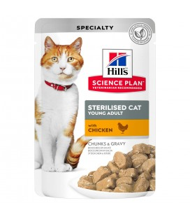 HILL'S SCIENCE PLAN POUCH Sterilised Cat Alimento para Gatos Jóvenes con Pollo - Bolsita 85 GR