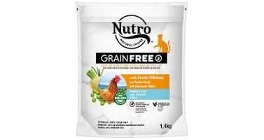 NUTRO GATO GRAIN FREE STERILIZADO CON POLLO 1,4 KG