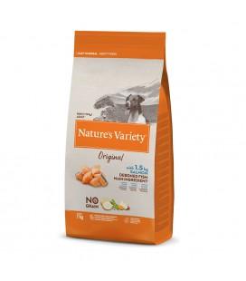 NATURES VARIETY NO GRAIN SALMON DOG ADULT MINI 1,5KG