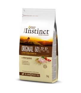 True INSTINCT ORIGINAL POLLO ARROZ INTEGRAL MEDIUM/MAXI JUNIOR 12KG