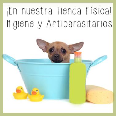 Higiene y Antiparasitarios perros en la tienda física de DInomascota